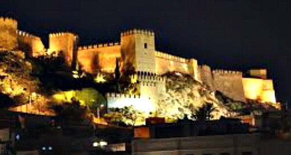 Places to visit in almeria-alcazaba-night
