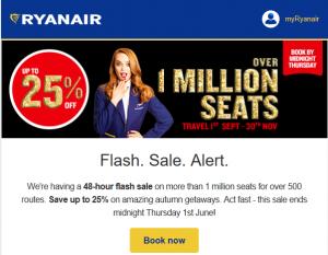 Ryanair Sale