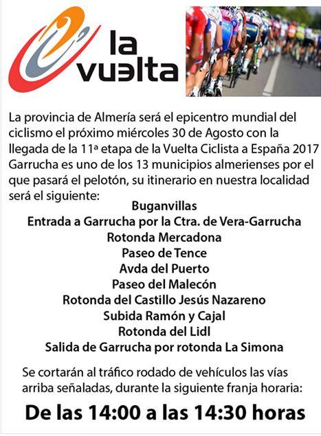 La Vuelta route Garrucha Update
